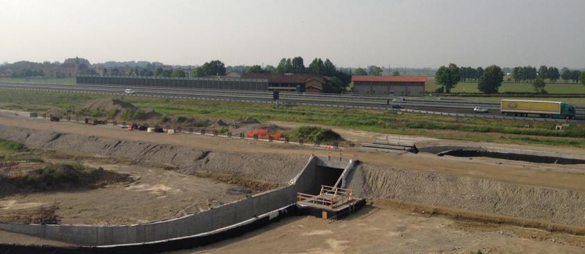 Nuova Linea Alta Velocità Torino-Venezia, sottopasso di Bariano (BG)