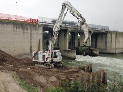 Centrale idroelettrica sul Fiume Mincio, Bagnolo S. Vito (MN)